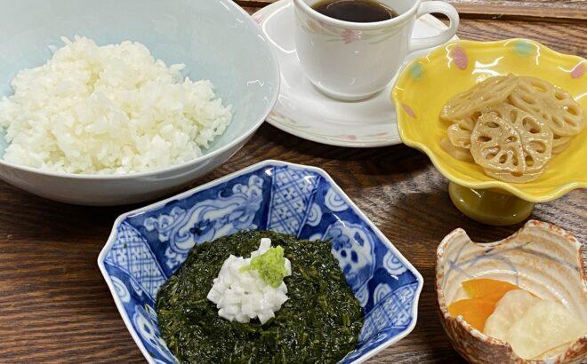 ながも丼 寺泊の鯛の潮汁とともにの写真