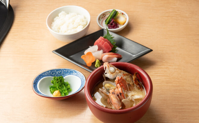 寺泊名物 番屋汁定食の写真