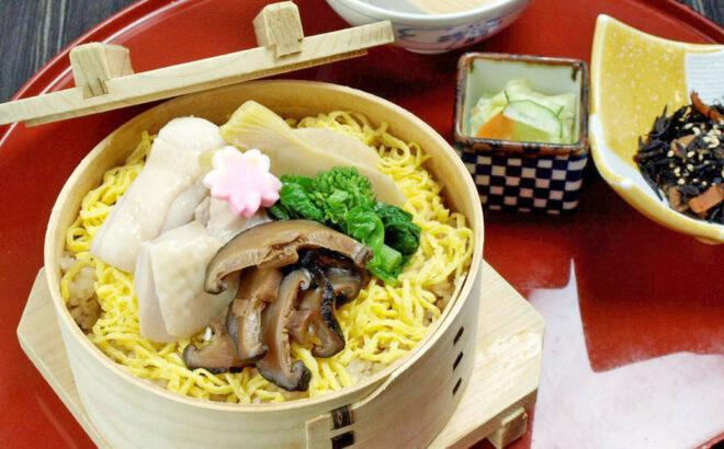 越の鶏と筍うま煮わっぱ飯膳(3/1~4/30)の写真
